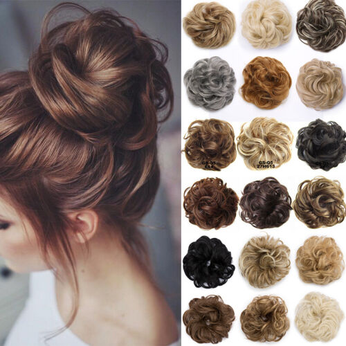 Natural Messy Bun Scrunchie Thick Hair Peice Curly Chignon Updo Hair Extension 5 <br/> AU 3000 SOLD 35G40G Premium Synthetic Hair Bun As Human