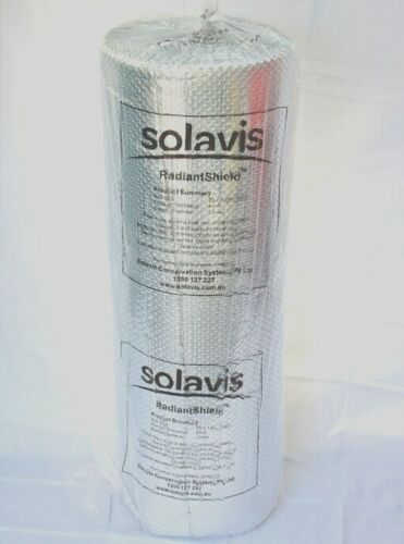 6m²  SOLAVIS RadiantShield AIR BUBBLE CELL INSULATION REFLECTIVE FOIL INSULATION <br/> FREE SHIPPING