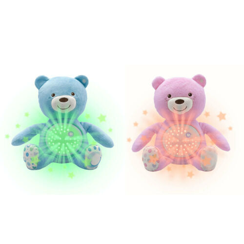 Chicco Baby Bear Soft Plush Kids Toy Soothing Light Projector w/Music 0m+