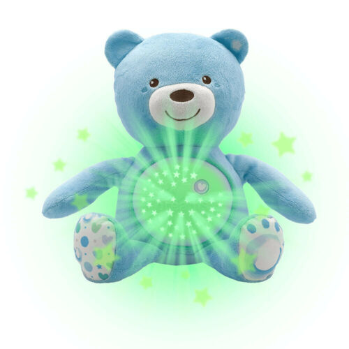 Chicco Baby Bear Soft Plush Kids Toy Soothing Light Projector w/Music 0m+ Blue