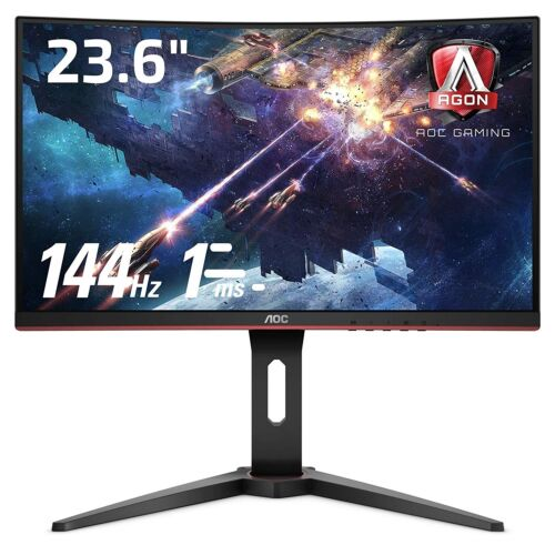 "AOC 24"" Curved Gaming Monitor 1920x1080 FreeSync VA LED 144Hz 1MS FHD C24G1"