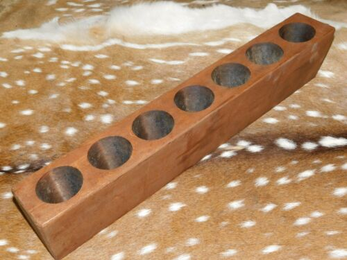 7 Hole Wooden Sugar Mold Wood Candle Holder Primitive Rustic Home Decor
