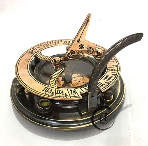 New Year Reproduction Antiques Maritime Compasses Garden Sundial Clock Compa