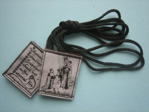 Scapulars brown pure wool, free post, 1 euro (also rosary beads 2.5 euro)