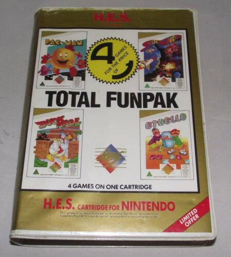 Total Funpack 4 in 1 Nintendo HES NES Boxed PAL *Complete* Piggy Back