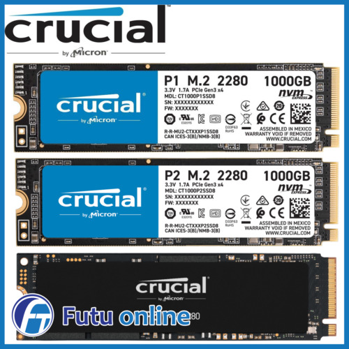 500GB 1TB Crucial P1 P5 M.2 PCIe NVMe SSD Internal Solid State Drive BRAND NEW
