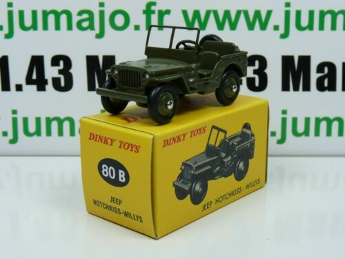 DT25E Voiture réédition DINKY TOYS atlas : 80B Jeep Hotchkiss Willys