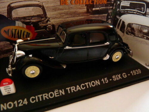 voiture UNIVERSAL HOBBIES NOSTALGIE 1/43 : CITROËN traction 15 SIX G 1939