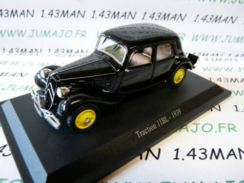 TRA72 voiture 1/43 atlas traction NOREV  traction 11BL 1939