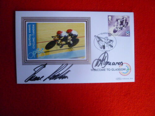 BENHAM LTD EDITION CYCLING COVER GLASGOW COMM GAMES SIGNED ANNA MEARES,PERKINS