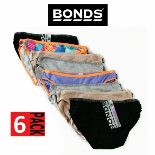 6 x BONDS WOMENS UNDERWEAR Hipster Bikini Boyleg Gee G String Strings Assorted