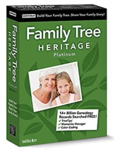 Family Tree Heritage Platinum 15 for Mac - Digital Download