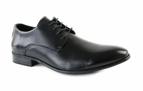 ZASEL BOBBY Black Lace Up Ups Dressy Work Men's Men Synthetic Leather Shoes