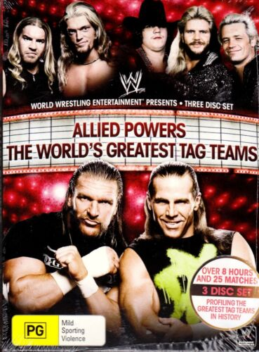 WWE Allied Powers: The World's Greatest Tag Teams (2009)-DVD 3-Disc-Sealed Promo