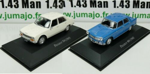 LOT 2 Voiture 1/43 SALVAT Autos Inolvidables : Peugeot 404 et 504