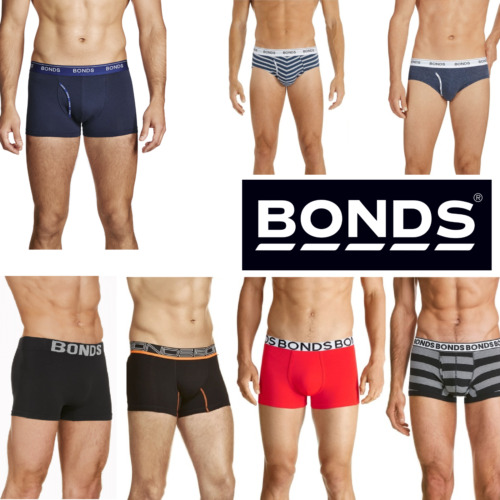 6 x MENS BONDS Underwear Assorted Trunks Underwear Briefs Boxer Everyday Shorts