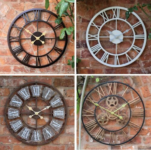 Garden Ornament Wall Clock Open Face Station Church Tower Clock Indoor Outdoor <br/> 4 different sizes and designs