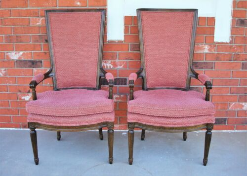 Pair of Vintage High-Back Parlor Chair