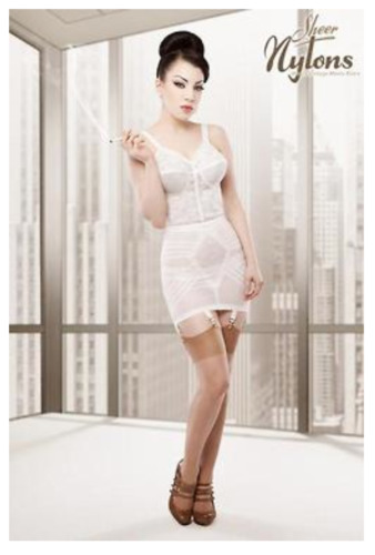 Rago 1359 WHITE 6 Strap FIRM SHAPEWEAR GIRDLE Made in the USA