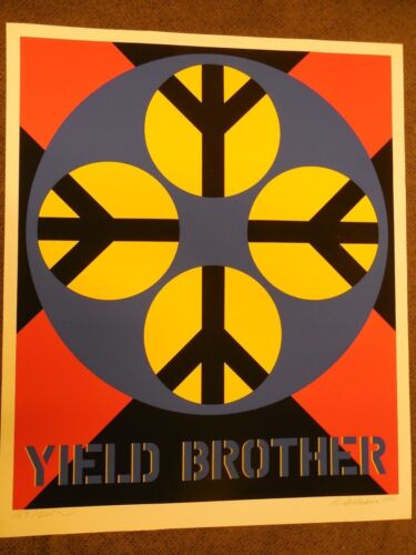 """Robert Indiana """"Yield Brother""""  1971 Serigraph Hand Signed & Numbered"""