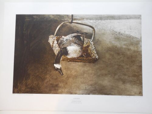 """Andrew Wyeth """"Canada"""" Collotype Hand Signed & Numbered !!! Beautiful Artwork"""