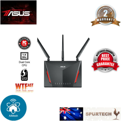New Asus RT-AC86U AC2900 Dual Band Wireless Gigabit Router MU-MIMO AIMESH SMART