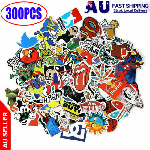 100 Random Vinyl Decal Graffiti Stickers Car Bomb Laptop Waterproof Skate Laptop <br/> Inventory arrived, high quality,fast shipping!