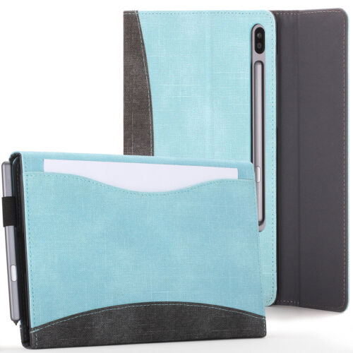 Samsung Galaxy Tab S6 10.5 Case, Cover, Stand with Document Pocket - Sky Blue