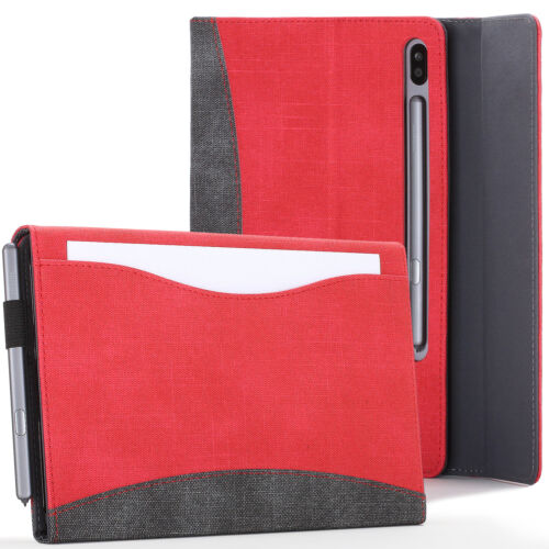 Samsung Galaxy Tab S6 10.5 Case, Cover, Stand with Document Pocket - Red