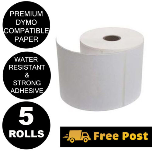 5 Rolls Compatible Dymo 4XL S0904980 Shipping Labels 104x159mm SD0904980 PP500