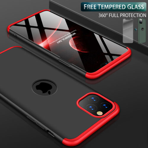 Slim Hybrid Shockproof Hard Thin Case Cover Tempered Glass for iPhone 11 Pro Max