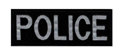 """Reflective Police Tactical Patch (""""Velcro Brand"""" Fastener -4.0 X 1.5 inch - RP3)Army - 48824"""