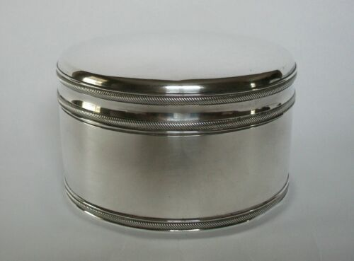 GEORGE REEVERS - Dutch .934 Silver Biscuit Box - Rope Borders - Holland - C.1838