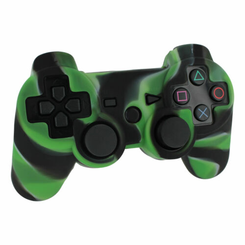 Silicone skin for PS3 controller Sony protective cover - camo green   ZedLabz