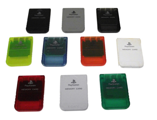 Genuine Sony PS1 Memory Card PlayStation 1 1mb SCPH 10020 Dropdown Selection