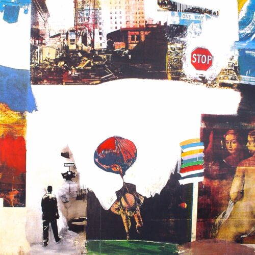 BEAUTIFUL ROBERT RAUSCHENBERG COLLAGE POSTER