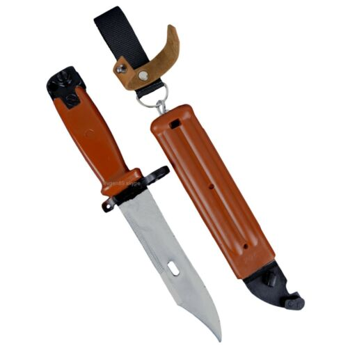 Airsoft Bayonet 6x4 with Sheath Russian Army Training Knife ReplicaReproductions - 156470