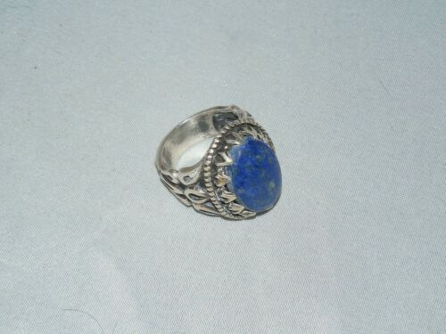 STERLING SILVER ISLAMIC MIDDLE EASTERN  LAPIS MENS RING