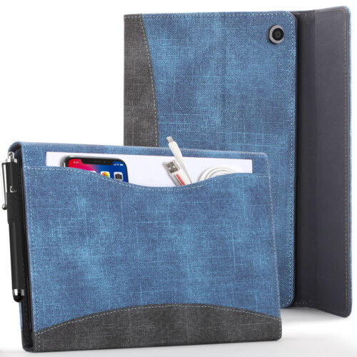 Amazon Fire HD 10 2019 Case, Cover, Stand - Blue + Stylus & Screen Protector