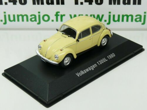 ARG28G Voiture 1/43 SALVAT Autos Inolvidables : VOLKSWAGEN 1300L BEETLE 1980