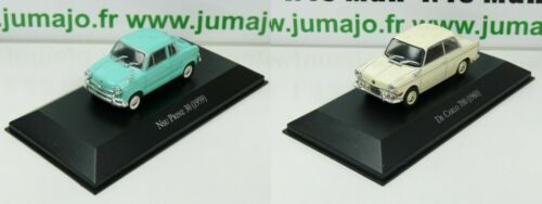 LOT 2 Voiture 1/43 SALVAT Autos Inolvidables: NSU prinz / De Carlo 700 bmw micro