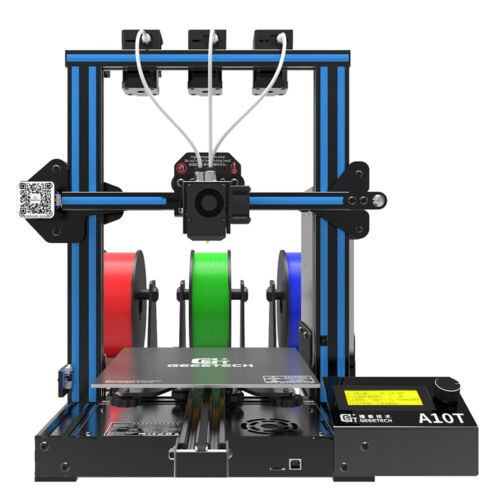 Geeetech 3D Printer Triple Extruders 3Mix Color A10T Support Auto level from USA