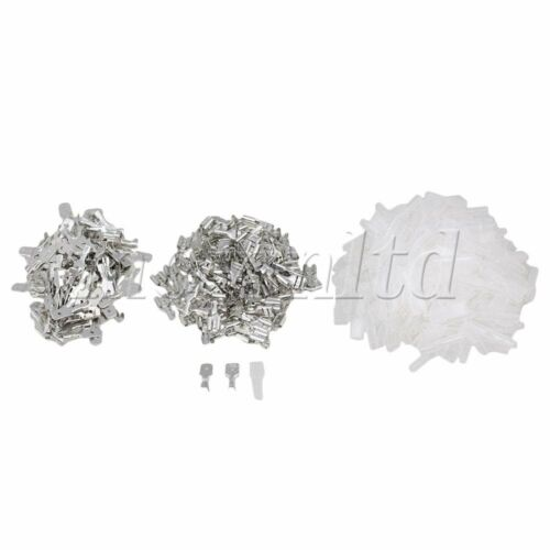 6.3mm Male Female Wire Crimp Terminal White Pack of 200
