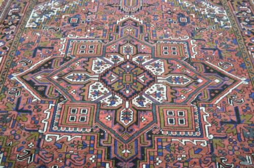 7'7 x 9'9 Gorgeous Geometric Semi Antique Handmade Wool Area Rug 8 x 10 Carpet