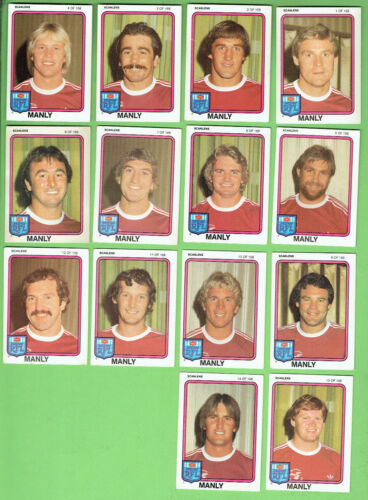 1981  Manly Sea Eagles  Scanlens  Rugby League  Team Cards