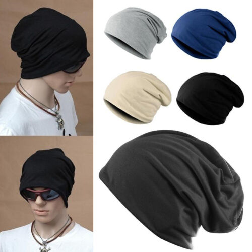 Unisex Knit Baggy Beanie Outdoor Winter Hat Ski Slouchy Chic Cap Warm Casual
