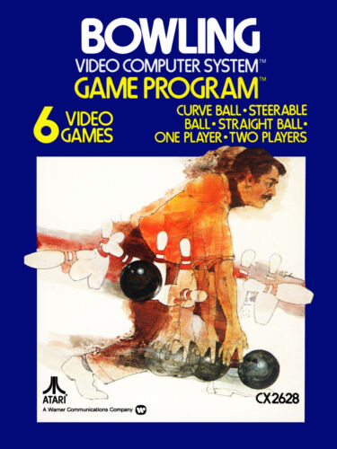 """Video Game Cover Poster - Atari 2600 - Bowling (1978) Canvas Art 18"""" x 24"""""""