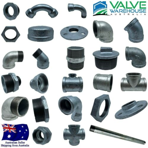 Galvanised Malleable (Gal Mal) Iron Pipe Fittings BSP - Water, Steam, Air & Gas