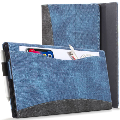 Microsoft Surface Pro 7/6/5/4 Case, Cover, Stand with Document Pocket, Blue