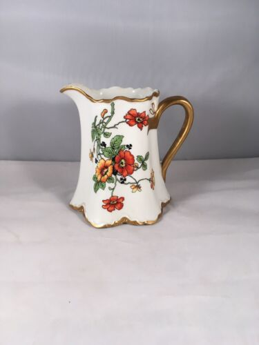 """Early Warwick China Pitcher or Creamer 4 1/4"""" Tall"""
